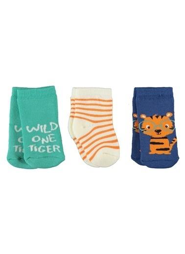 Civil Baby 3'lü Çorap Renkli